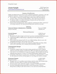 Hotel And Restaurant Management Sample Cover Letter Valid Hospitality Resume Template Beautiful