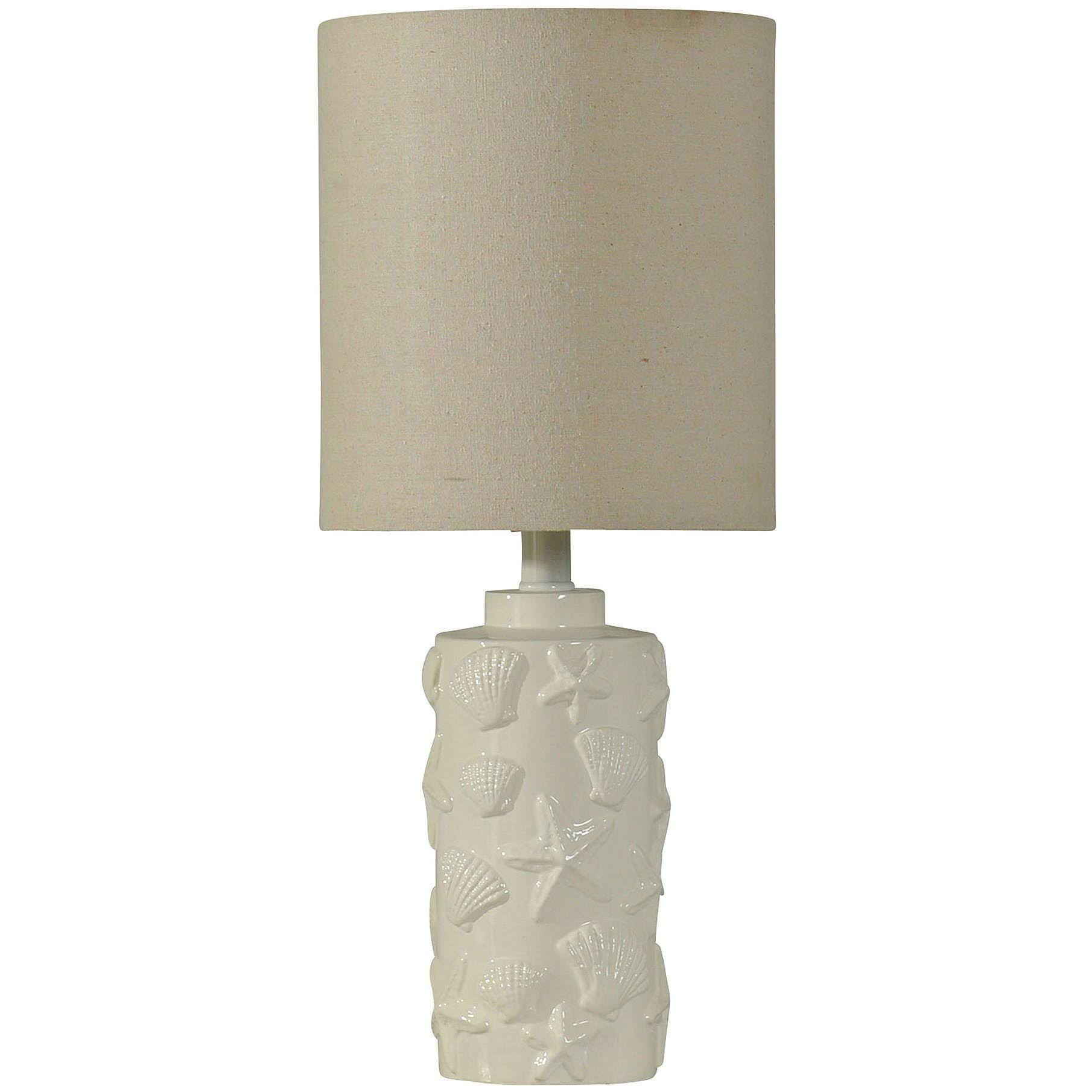 Gwg Outlet Accent Table Lamp in White Finish L13182DS