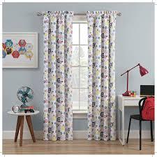 Waverly Fabric Curtain Panels by Waverly Waverly Kids Wind Me Up Geometric Blackout Rod Pocket