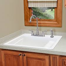 mustee vector 25 single basin drop in utility sink hayneedle