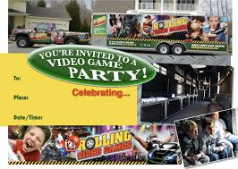 100 Truck Video Games Party Invitations Premier Game Rolling Mobile