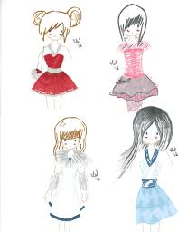 Freehands With Cute Dresses By Pun Kye On Deviantart