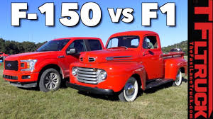 From 1950 Ford F1 To 2018 F150: How Much Has The Pickup Changed In ... 1950 Ford F3 Wrapup Garage Squad Custom F1 Pickup Adamco Motsports Truck Drop Dead Customs 136149 Youtube For Sale Classiccarscom Cc1042473 Fyi Ford Mustangsteves Mustang Forum F2 Truck Sale Ford F1 Pickup Archives The Truth About Cars Not Your Average Fordtrucks F5 Stake Enthusiasts Forums