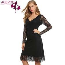 online get cheap black lace cocktail dress aliexpress com