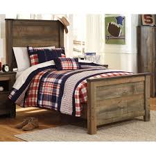 Rustic Casual Contemporary Twin Bed