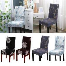 Item 6 Removable Elastic Stretch Slipcovers Short Dining Room Chair Seat Cover Decor UK