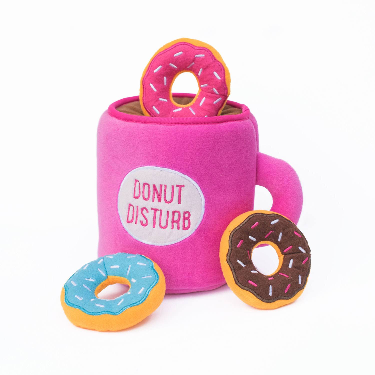 ZippyPaws Coffee and Donutz Zippy Burrow Dog Toy
