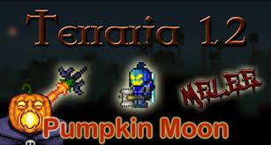 Pumpkin Moon Terraria by Terraria Pumpkin Moon Melee Solo Final Wave No Traps Youtube