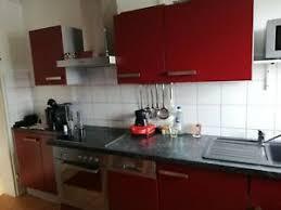 küchen rot gebraucht sehr guter zustand ebay