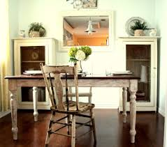 Shabby Chic Dining Room Hutch by White Cottage Kitchen Kitchen Shabby Chic Style With Dark Floor