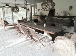 Rustic Outdoor Furniture Ideas Porch Farmhouse With Sunroom Dining Table