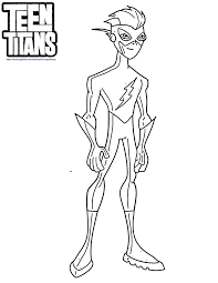 Teen Titans Kid Flash Coloring Pages With Page