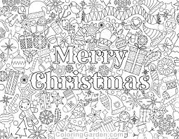 Free Printable Merry Christmas Adult Coloring Page Download It In PDF Format At