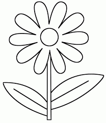 Flower Coloring Sheets For Kids