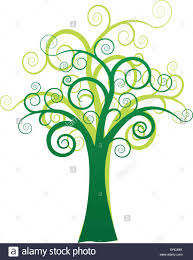 Polytree Christmas Trees Instructions by Vector Illustration Of Green Artistic Tree On White Background