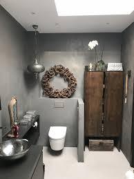 badezimmer beton cire grau mit holzschrank badezimmer
