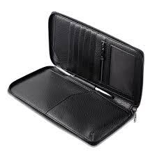 new pu leather rfid blocking wallet holder organiser case for