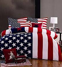 amazon com cliab american flag duvet cover set set full size 4