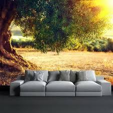 olivenbaum fototapete sonnenuntergang landschaft tapete