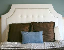 Roma Tufted Wingback Headboard Instructions by Bedroom Excellent Build A Tufted Headboard With Nail Head Trim
