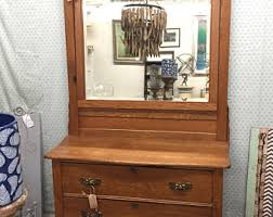 Tiger Oak Dresser With Swivel Mirror by Oak Dresser Etsy