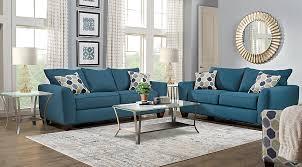 Bonita Springs Blue 7 Pc Living Room Living Room Sets Blue