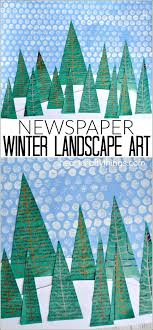 This Newspaper Winter Landscape Art Project Makes A Great Craft Kids And Preschool
