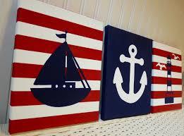 nautical nursery paintings girls nursery wall decor pink