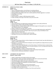 Stock Clerk Resume Samples | Velvet Jobs