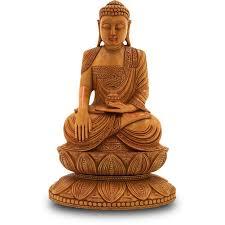 Buddha Sitting In Meditation Made Wood