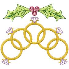 Five Gold Rings From Twelve Days Of Christmas