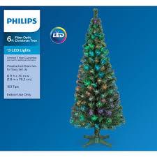 Philips 6ft Prelit Artificial Christmas Tree LED Fiber Optic Target
