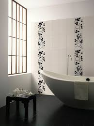 Bathroom Wall Tile Material by Large Bathroom Space With Contemporary Big Freestanding Bathtub