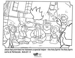 Kids Coloring Page From Whats In The Bible Showing Holy Spirit Coming Upon