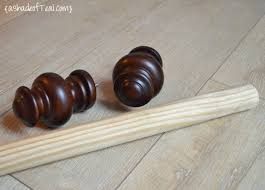 Curtain Rod Extender Diy by Shop Style Selections 48 In Cherry Wood Curtain Rod Set At Wooden