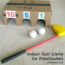 This Golf Game Can Be Played Inside And Is Easy To Make From A Cardboard Box