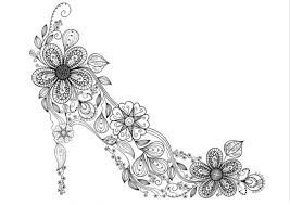 Zen High Heel Shoe Coloring Page Free Printable PagesAdult