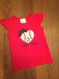 Little Sister Baseball Top By MeghansCustoms On Etsy | Baby And Kids ...