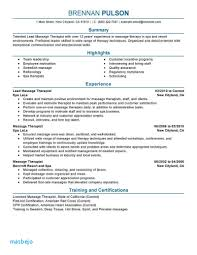 Massage Therapist Resume Example Lovely As 30 Beautiful Examples For Disability Services