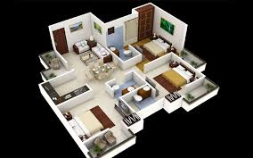 Stunning House Plans With Bedrooms by 3 Bedroom Home Design Plans Stunning 25 More 3d Floor Tavoos Co