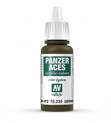 Vallejo Panzer Aces Acrylic Paint - 70.335 German Tank Crew ll, 17ml