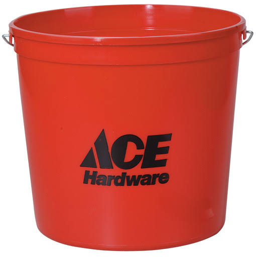 Ace Polysteel Rim Pail - Red