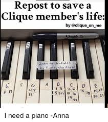 si鑒e pour piano repost to save a clique member s by on me intro to heathens