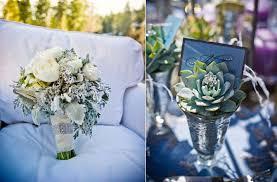 Blue Silver Wedding Colors Winter Flowers Bouquet Centerpieces