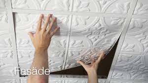 Ceilume Ceiling Tile Adhesive by Fasade Decorative Ceiling Tiles Youtube