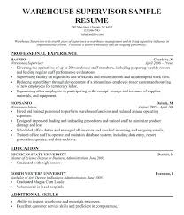 Restaurant Supervisor Resume Good Job Manager Examples