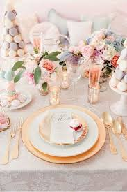 Spring Macaroons Wedding Tablescape