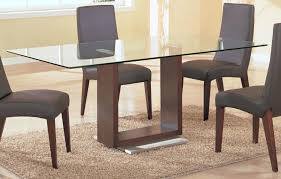 Modern Glass Dining Room Tables Simple Decoration Topped Top