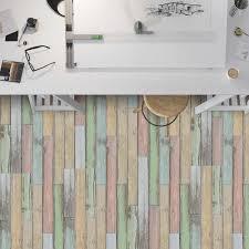 home verbesserung schlafzimmer boden aufkleber wasserdicht fliesen vinyl schälen und stick holz plank tapete