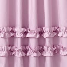 Purple Ruffle Curtain Panel by Ruffle White 84